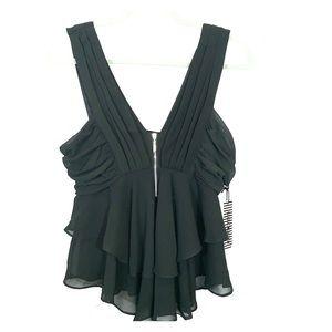 NWT Haute Monde L sleeveless ruffle blouse